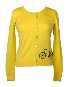 Friday On My Mind Long Sleeved Yellow Button Down Cyclone Cardigan