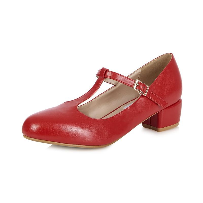 27006eaeaaa Collectif LuluHun 40s 50s Chrissie Red Block Heel Shoes Collectif Lulu Hun  50s Chrissie Red Glitter Block Shoes Collectif ...