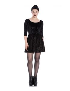 Spin Doctor Margot Velvet Gothic Party Mini Dress