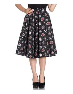0d8c008a02365 Hell Bunny Stevie Tattoo Swallow Polka Dot 50s Skirt
