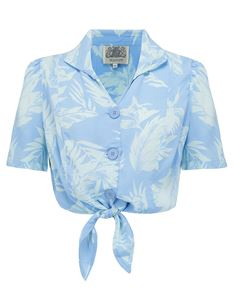 Marilyn Blouse Blue - The Seamstress of Bloomsbury