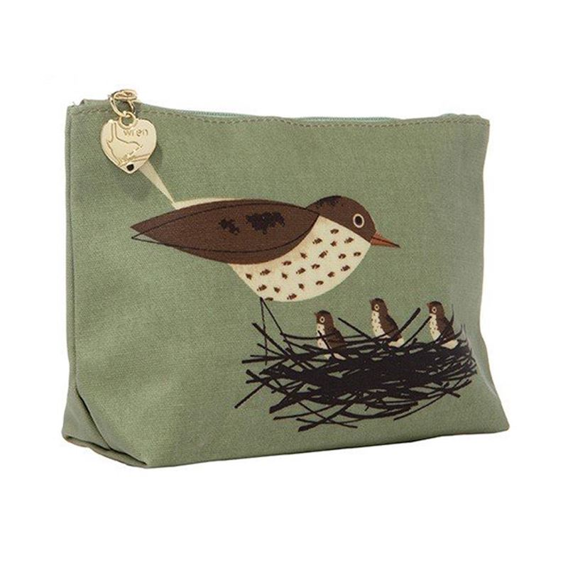Magpie Birdy Robin and Thrush Set of Two - Wash and Make Up Bags