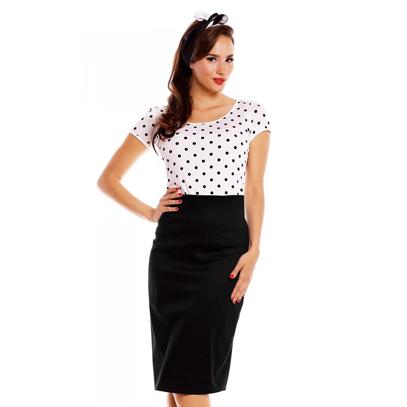 Dolly And Dotty Gina White Polka Dot Top