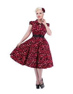 H&R London 50's Rose Floral Collar Dress