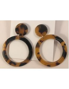 Midcentury Missy 1950's Tortoiseshell Hoop Earrings