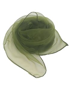 Gertie And The Seamstress Olive Green Chiffon Scarf