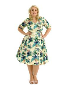 Lady Vintage Voluptuous Estella Sunshine Toucan Dress