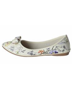 Poisoned Floral Mess Ladies Floral Ballerina Flat Shoes