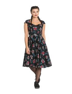 5f8afd57d8282f Hell Bunny Poseidon Octopus Nautical 50s Style Dress