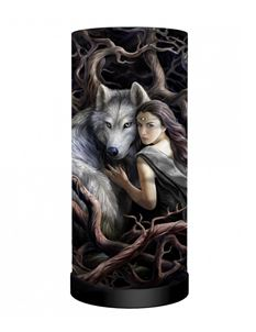Nemesis Now Anne Stokes Soul Bond Wolf Table Lamp