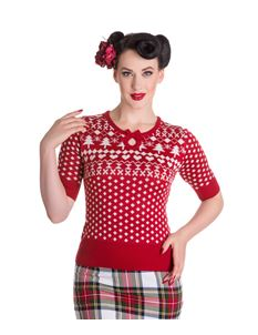 Hell Bunny Katherine 50s Vintage Style Christmas Xmas Jumper