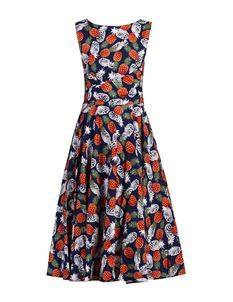 Clarence and Alabama Pineapple Print Swing Dress
