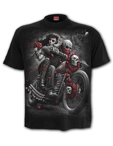 Spiral Direct Mens DOTD Bikers Black T Shirt