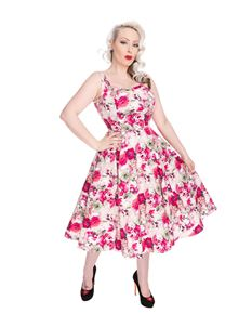 Hearts & Roses 50s Samantha Floral Swing Dress