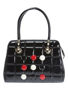 Poisoned Button Vintage Style Bowling Bag Black