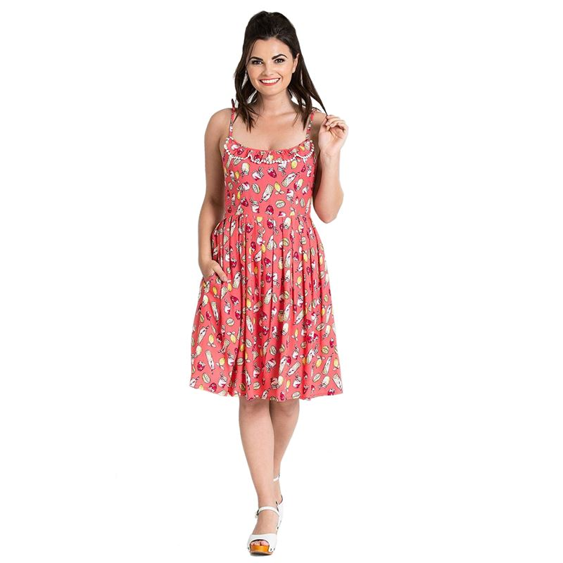 Hell Bunny Gin Fizz Lemonade Summer Strappy Dress
