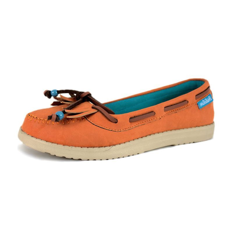 Brakeburn Ladies Lily Boat Moccasin Shoes Coral