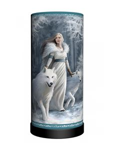 Nemesis Now Stokes Winter Guardians Wolf Table Lamp