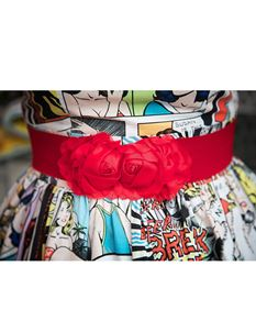 Silly Old Sea Dog Red Flower Belt