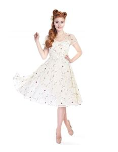 Collectif Nina Ivory Swing Dress
