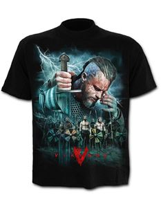 Spiral Direct Mens Vikings Battle Black T Shirt