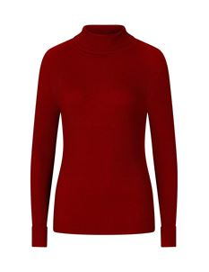 Hell Bunny Spiros Roll Neck Polo Ribbed Jumper Top