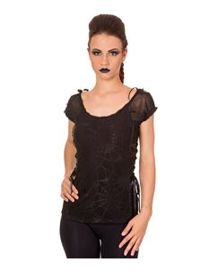 Banned Black Spider Web Day Tripper Top