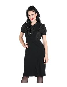Hell Bunny Claire Pinafore 50s Vintage Style Dress