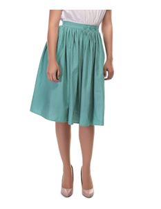 Collectif 50s Style Talis Green Swing Skirt Size UK 8