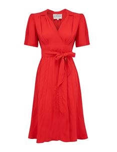 The Seamstress of Bloomsbury Nancy Dress In Red
