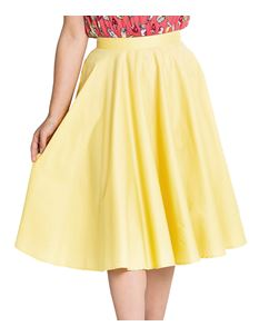 Hell Bunny Paula 50s Skirt Yellow Circular Rockabilly