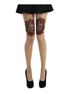 Pamela Mann Goth Tattoo Tights Skulls & Roses