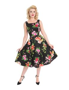 Hearts & Roses Classical Vintage Swing Dress