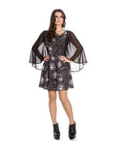 Spin Doctor Lucille Alternative Occult Goth Mini Dress