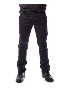 Vixxsin Men's Jesse Straight Leg Black Trousers