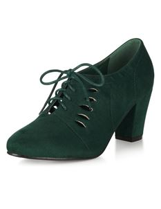 Lulu Hun Gertrude Ankle 40s Vintage Green Shoes