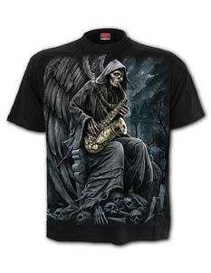 Spiral Direct Mens Reaper Blues Black T Shirt