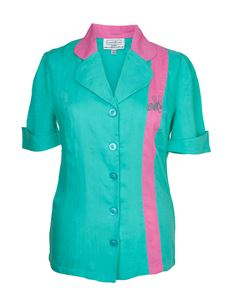 Campbell Crafts 1950's Mint & Pink Bowling Shirt