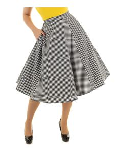 Hearts & Roses Gloria Gingham Check 50s Skirt