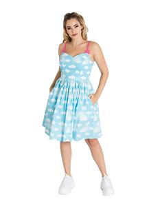 Hell Bunny Daydream Clouds Summer Mid Dress
