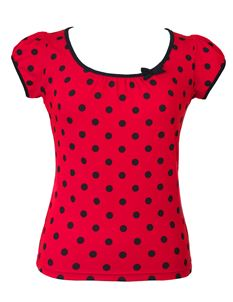 Friday On My Mind Red And Black Polka Dot Top