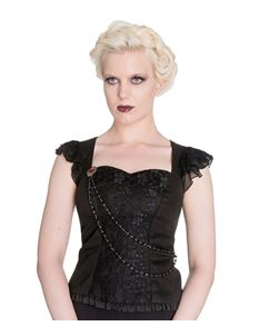 Spin Doctor Ophelia Gothic Alternative Top Black