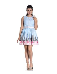 Hell Bunny Paname Paris Polka Dot Mini Dress