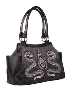 Banned Alternative Alchemist Serpent Black Handbag Bag
