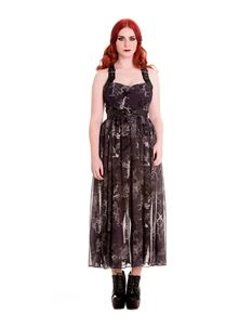 Spin Doctor Altaira Chiffon Black Maxi Long Dress