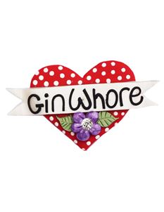 Guns N Posies Gin Whore Heart Brooch