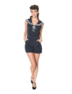 Banned Navy Nautical Bianca Vintage Style Playsuit