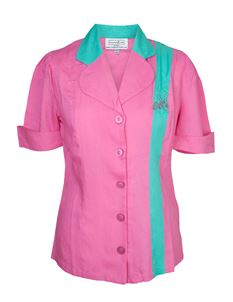 Campbell Crafts 1950's Pink & Mint Bowling Shirt