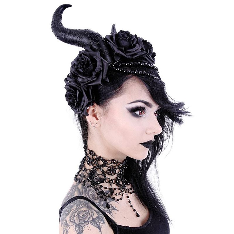 Restyle Evil Queen Maleficent Horns Gothic Headpiece
