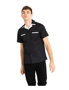 Chet Rock Donnie Mens Retro Style Bowling Shirt